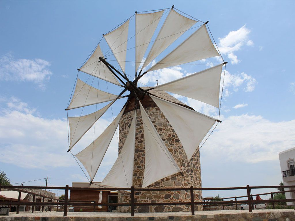 A windmill standing against time